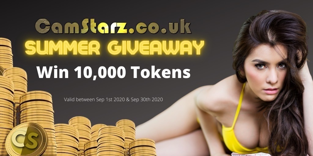 Win 10,000 Tokens in the CamStarz.co.uk Summer Giveaway